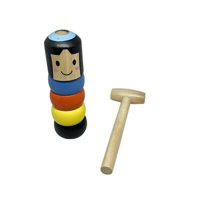 Small Puppet For Kids Immortal Daruma Magic Toy Accessory Fun Toy Wooden Man LP