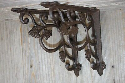 Victorian Design 13 Inch Decorative shelf Brackets Solid Cast Iron 3 B-2