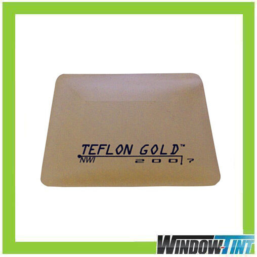 GOLD TEFLON HARD CARD SQUEEGEE CAR WINDOW TINT TOOL