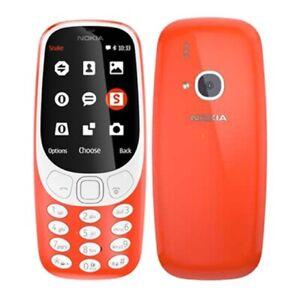 Nokia 3310 3G SIM Phone Warm Red BLUETOOTH FM CAMERA TWITTER FACEBOOK MP3 GAMES