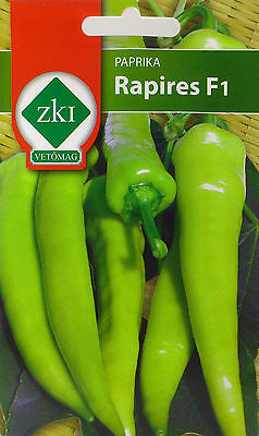 Very hot Rapires hybrid Hungarian pepper seeds. 0.5 g seeds