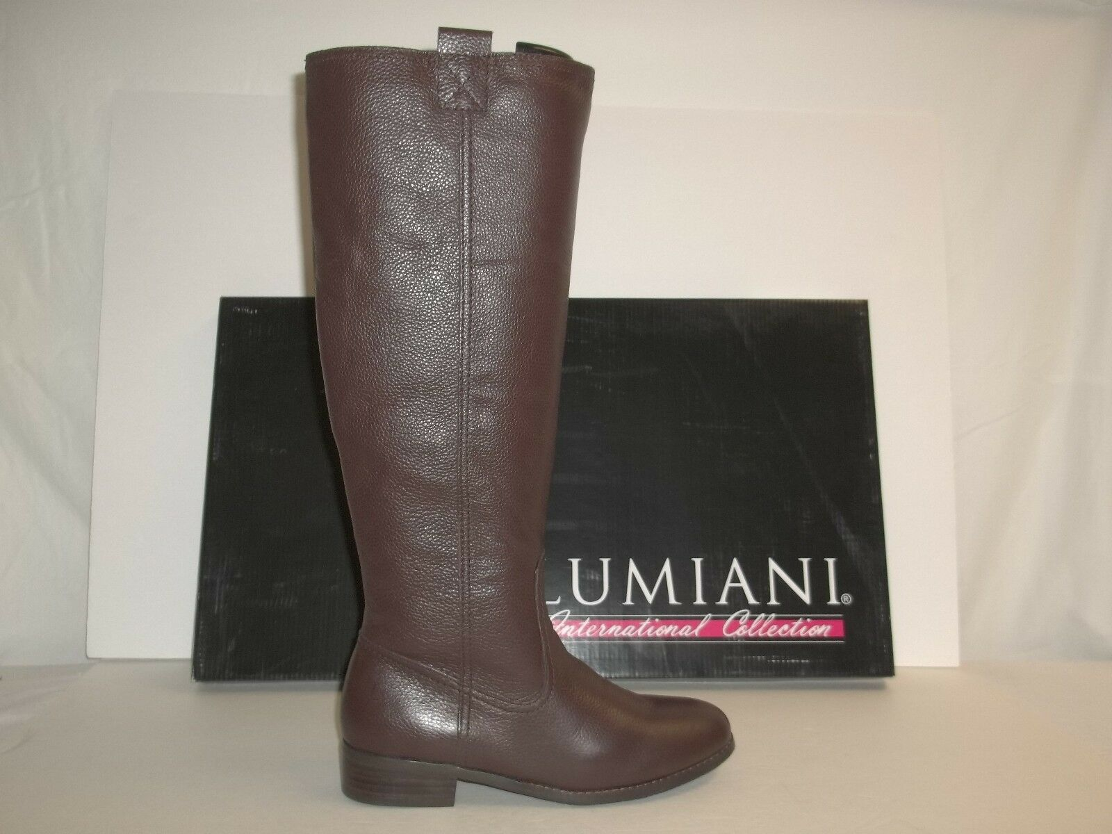 Lumiani Size 5.5 M Wide Calf Lacey Brown Brown Brown Pebble Leather Boots New Womens shoes 9ede14