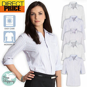 Image Is Loading Las Shirt Blouse Business Work Top Womens