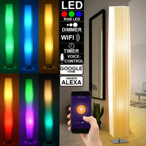 Smart Home LED Steh Lampe Textil weiß Google App Alexa RGB Decken Fluter dimmbar