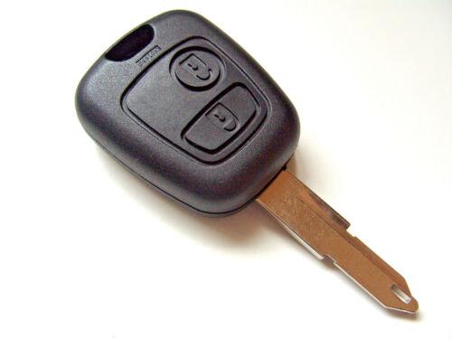 2 Botón Remoto Clave Fob Hoja de Clave en Blanco para Peugeot 106