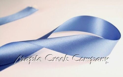"""3yd of Smoke Blue 1//4/"""" Double Face Satin Ribbon 1//4/"""" x 3 yards neatly wound"""