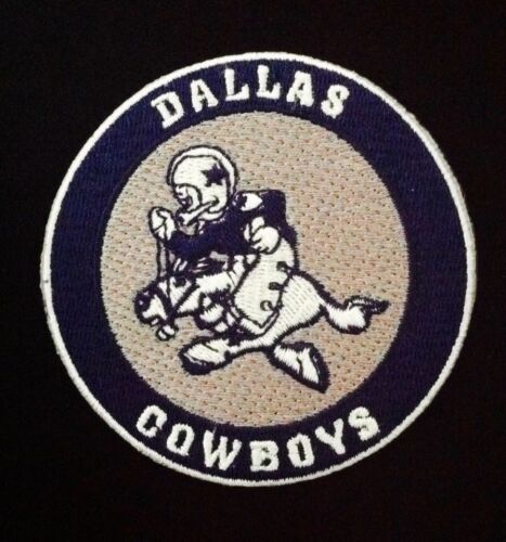 """3/"""" x 3/"""" COWBOY JOE Dallas Cowboys Vintage Embroidered Iron On Patch Old Stock"""
