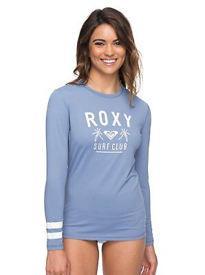 Whole Hearted bleu UPF50 Protection Soleil T Shirt Top 9 S 19 Haut femme ROXY Rash Vest