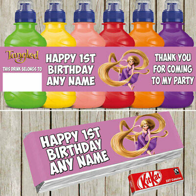 PERSONALISED TINKERBELL FRUIT SHOOT LABELS PARTY ITEMS FRUIT SHOOT LABELS KITKAT