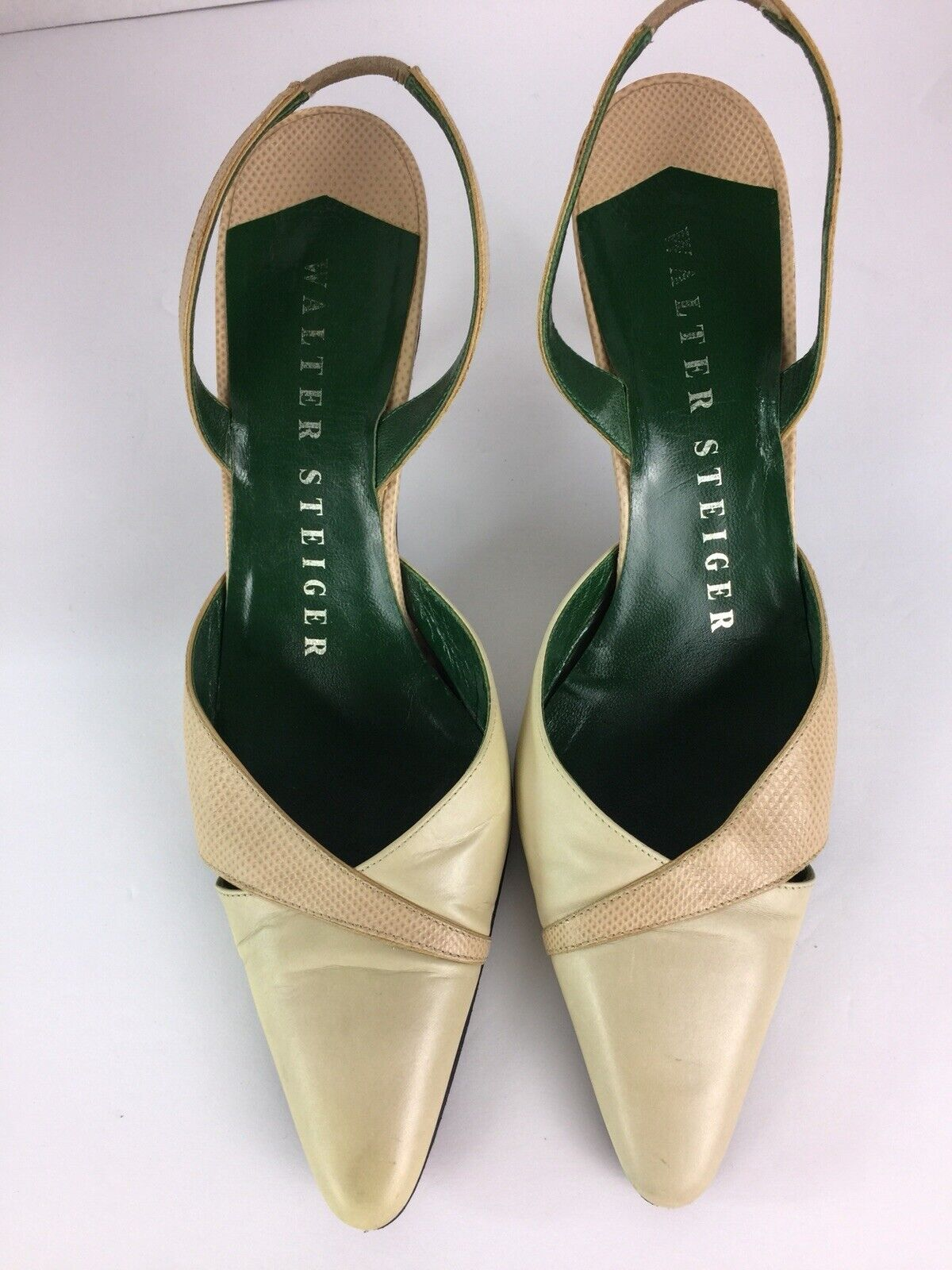 design semplice e generoso Walter Steiger Steiger Steiger donna scarpe Dimensione 7.5 oro Metallic Leather Ankle Strap Heels  punti vendita