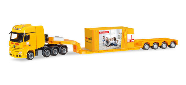 Herpa 308373 H0 MB Actros  SLT Faible loading Articulated Lorry with Accessoires Max Bögl Novelty 17  100% authentique