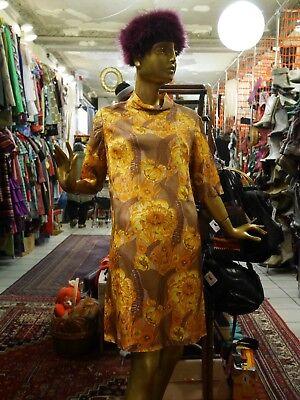 Berger Abito M 60er Effetto Floral Abito Estivo True Vintage Floral 60s Mod Dress-mostra Il Titolo Originale Adottare La Tecnologia Avanzata