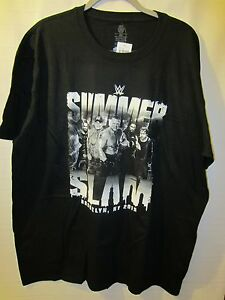 Fan Apparel & Souvenirs Wrestling WWE Summer Slam Brooklyn New York 2015 Black T-Shirt L Large New with Tags