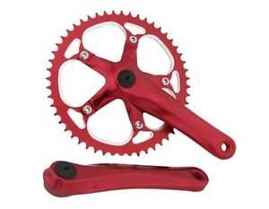 BICYCLE CRANK SET RED 52T X 175MM CRUISER BMX MTB CYCLING