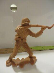 Marx-Japanese-6-034-World-War-2-Vintage-1960s-Brown-Plastic-Toy-WWII-Soldier-C