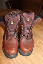 e9e6bf5e99d Herman Survivors Builder Mens Brown Leather Steel Toe BOOTS Size 7.5