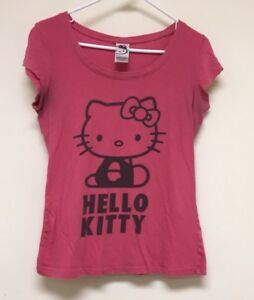 Hello-Kitty-Hot-Pink-Sanrio-Short-Sleeve-T-shirt-Youth-Girls-Size-Large