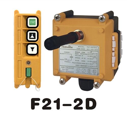 F21-2D 2 Ch 2 velocidad de control remoto 1T+1R arriba Hoist Grúa radio 18 ~ 65 V