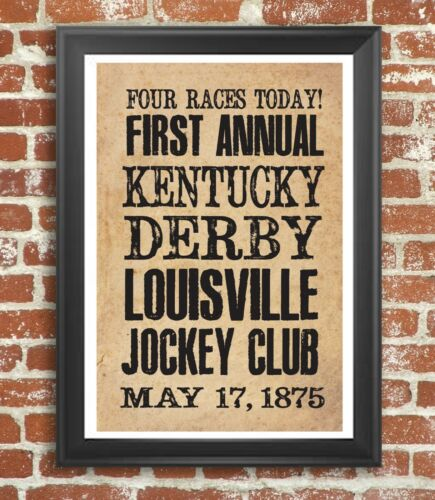 Kentucky Derby Vintage Style Poster Print