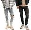Men-039-s-Biker-Ripped-Skinny-Jeans-Bleached-Distressed-Frayed-Painter-Denim-Pants thumbnail 1