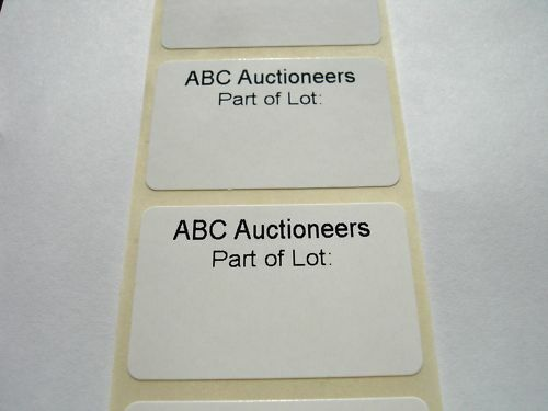 1000 Personalised Auctioneers Part of Lot Labels