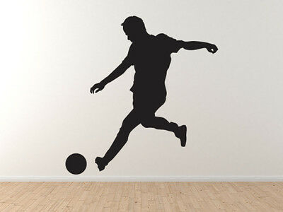 Sport Silhouette Soccer Football Player Version 3 Vinyl Wall Decal Ebay