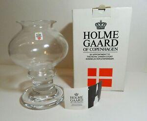 Holmegaard-Michael-Bang-Twilight-Time-Glass-Art-Candle-Holder-Handmade-Denmark