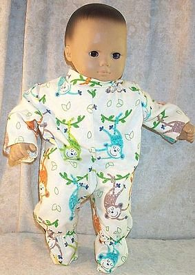 "Doll Clothes Baby Made 2 Fit American Girl Boy 15/"" Bitty Twin Pajamas Bunnies"