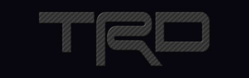 TRD LICENSE PLATE Carbon Fiber Look 4x13.5 inches  JDM Japanese license Plate