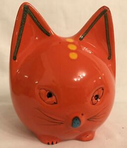 ECHT-RETRO-aus-den-70igern-Spardose-Katze-aus-Keramik-Reisekasse