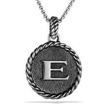 David yurman sterling silver initial charm e ebay david yurman cable collectibles e initial charm pendant enhancer sterling silver aloadofball Choice Image