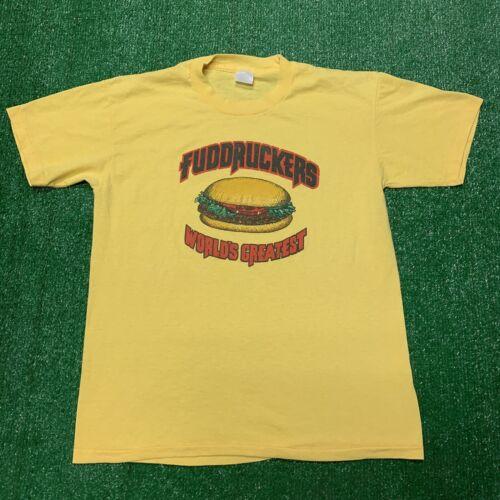 90s Fuddruckers Restaurant Eating Anti-Establishment Calgary t-shirt Extra Large Vintage Tee