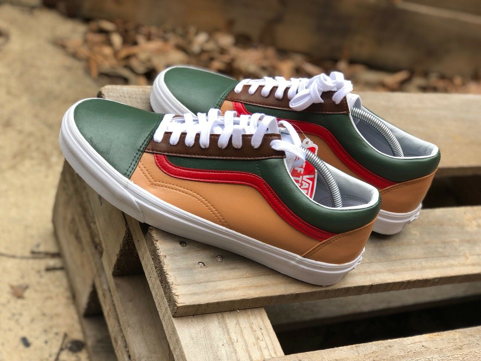 "custom vans old skool ""Mr feeny's"""