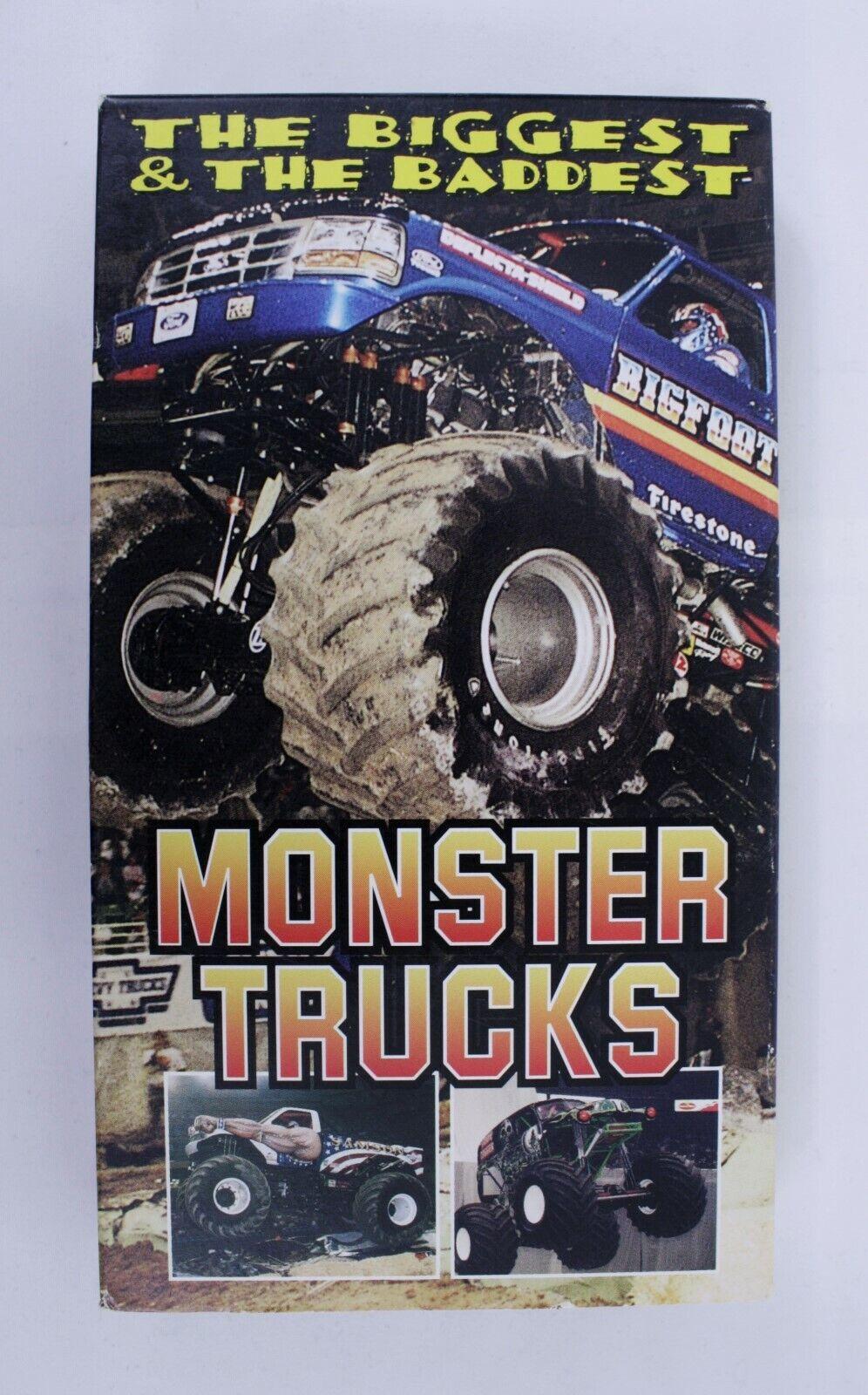 The Biggest And The Baddest Monster Trucks Vhs Video Bigfoot Grave Digger 0019405009556 For Sale Online