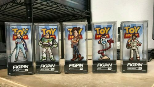 FIGPIN TOY STORY 4 COMPLETE SET FORKY WOODY BUZZ BO PEEP 1ST EDITION BRAND NEW