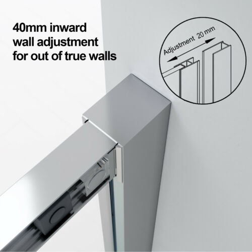 Sliding Screen Door Shower Enclosure Bathroom Cubicle 6mm Safety Glass/&Tray