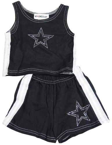 NY Girls.Com Toddler and Little Girls Cotton Sleeveless Tank and Short Set