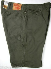 Levis Workwear  Jeans Shorts Carpenter Relaxed 550 Heavy Duty Canvas 100% Cotton