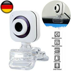 Webcam HD Kamera Laptop Desktop 360° Mit Mikrofon Für Videoanrufe PC USB 2.0 DHL