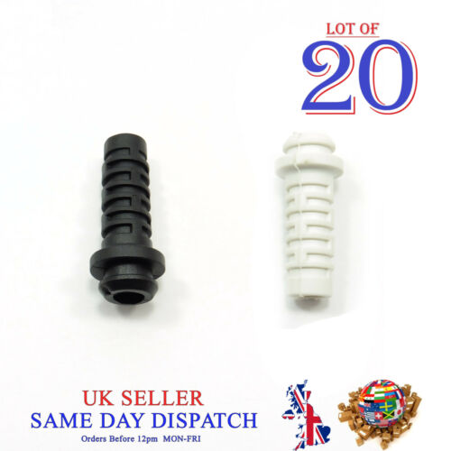 20x 27mm Rubber Strain Relief Cord Boot Protector Diameter 5mm