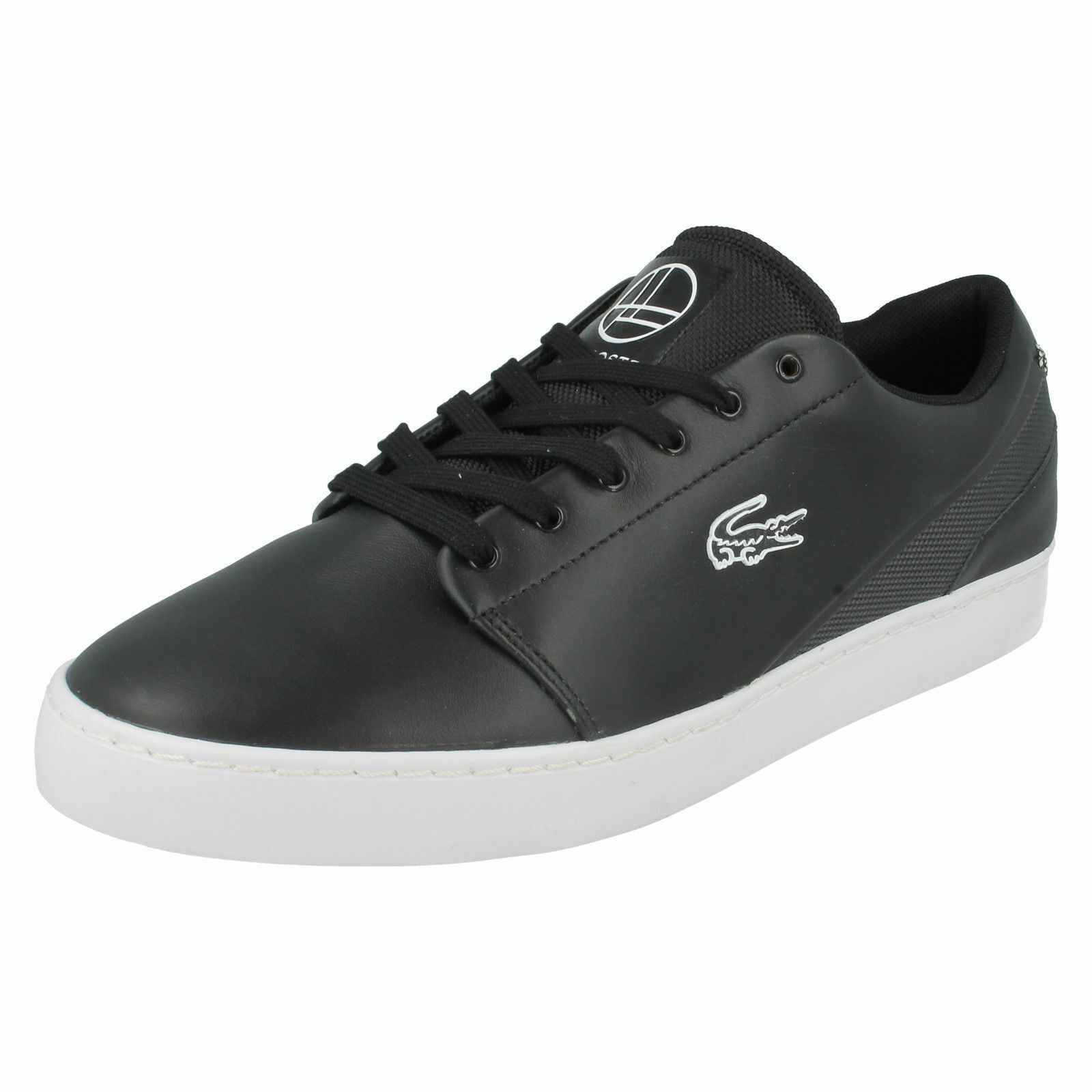 Lacoste Court Legacy Black Lace Up Sports Trainers