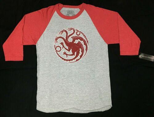 Game Of Thrones HOUSE TARGARYEN SIGIL Raglan T-Shirt NWT Licensed /& Official