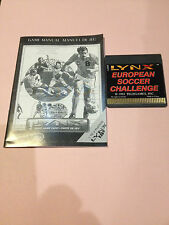 European Soccer Challenge Lynx Atari Collectors!! Rare New No Box with Manual