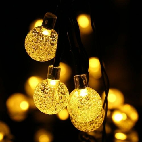 200LED Solar Powered Garden Party Fairy String Crystal Ball Lights Outdoor Lamps