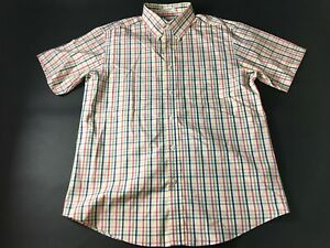 Orvis-Mens-Colorful-Plaid-Front-Pocket-Button-Front-Shirt-Size-Large