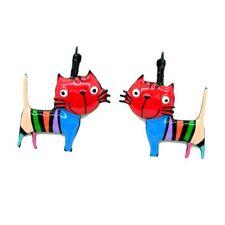 Boucles LOL Bijoux Le chat BFLOL051-rouge LOLILOTA