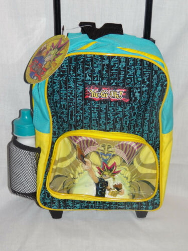 NWT  YU GI OH SMALL ROLLING BACKPACK 9 X 12  WITH WATER BOTTLE YELLOW