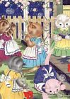 Kittens in Garden Greeting Card 6 Cards Individually Bagged With Envelopes and