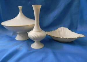Image Is Loading Lenox Made In Usa 3 Pieces Ivory Gold