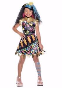 Monster High Kostuem Ebay.Monster High Cleo De Nile Costume Dress Girls Outfit Dress Up Medium 8 10 New 883028252244 Ebay